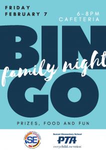 Bingo Family Night @ Cafeteria